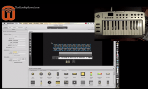 Worship keyboard rig with Mainstage software