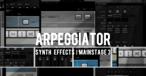 Arpeggiator effects synth sounds