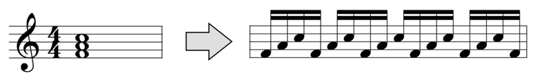 arpeggiator input and output