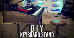 DIY keyboard stand process